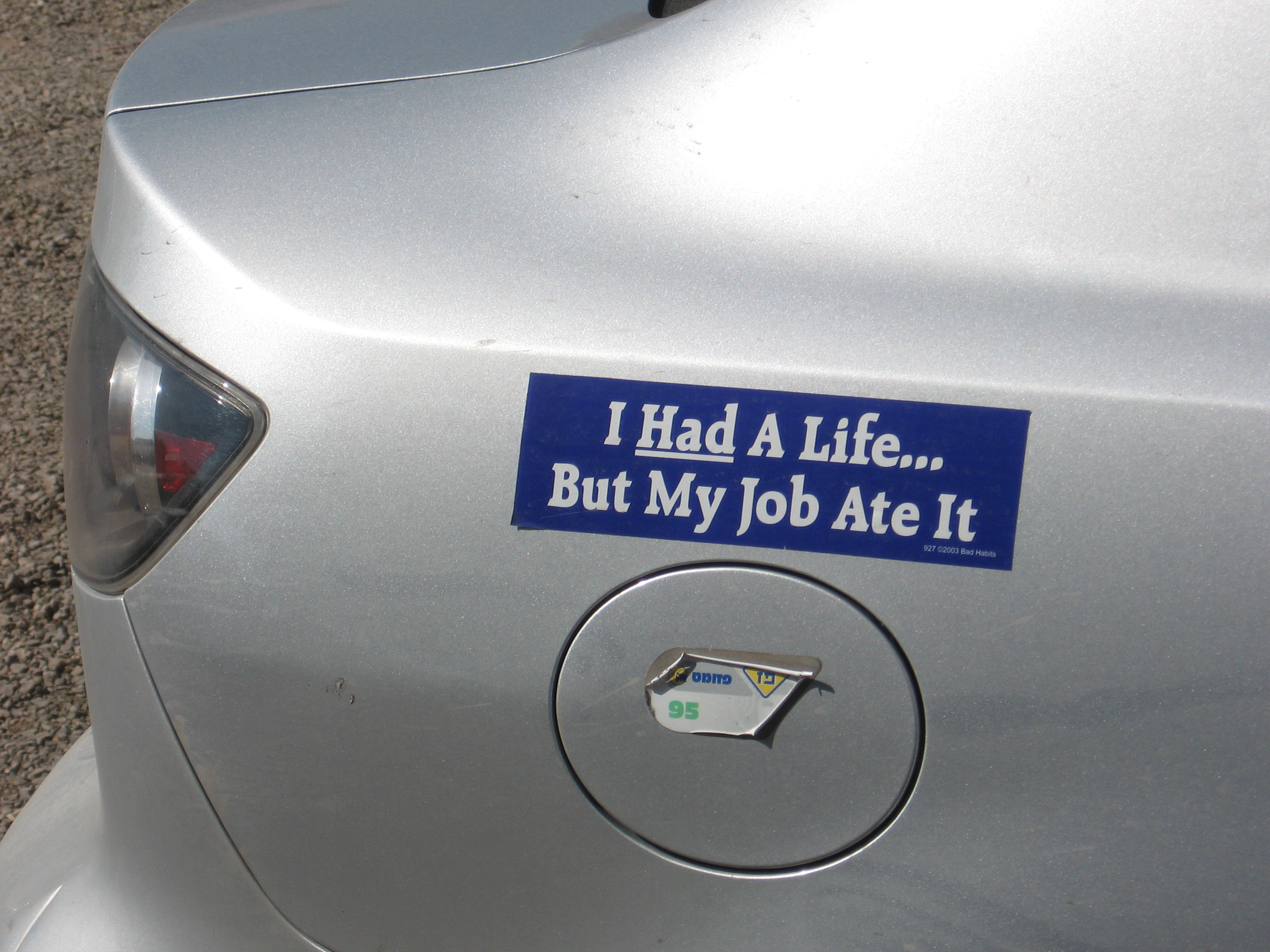 Bumper sticker 2013 funny stickers for cars