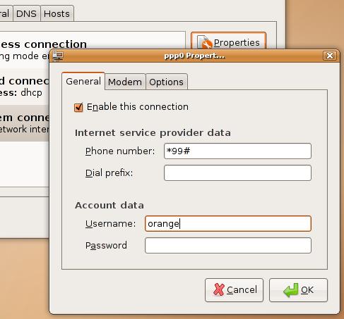 Ubuntu cellular modem setup 2