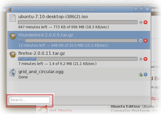 Firefox 3 download manager improvement