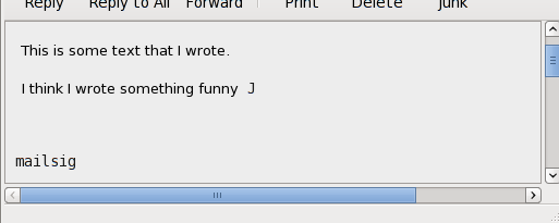 Outlook think it is funny also in text mode